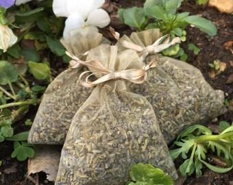 12 Organic French Lavender Aromatherapy Sachets (3 x 4)