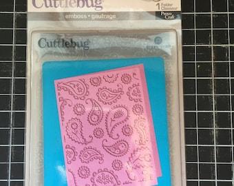 Cuttlebug Perfectly Paisley embossing folder