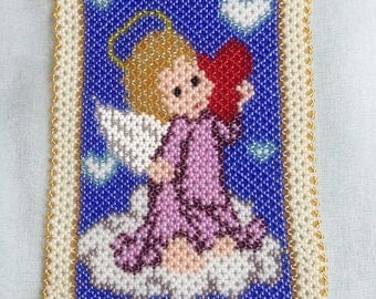 Angel with heart pattern