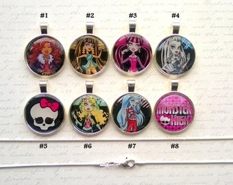 Monster High Silver Color Pendant Necklaces Sterling Silver Chain Perfect Birthday Accessory