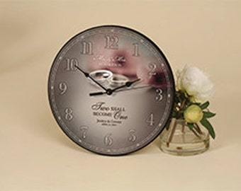 """Personalized """"I Do"""" CLOCK LASER ENGRAVED"""