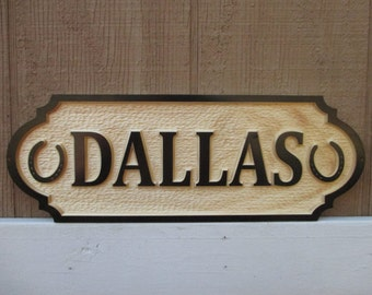 Custom Horse Name Plate Stall Sign Personalized Horse Name