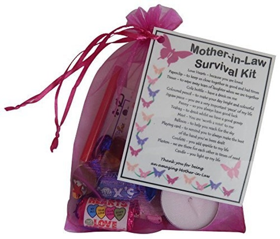 Christmas Gift Ideas For Your Mother In Law: Mother-in-Law Survival Kit Gift Great Present For By