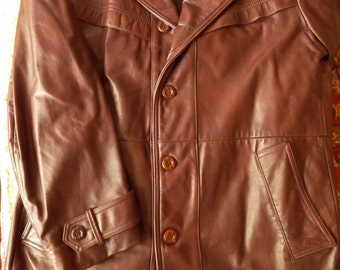 Vintage Field and Stream Leather Coat Men's Leather Coat