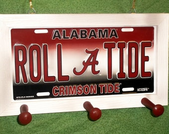 Alabama University License Plate Peg Hanger