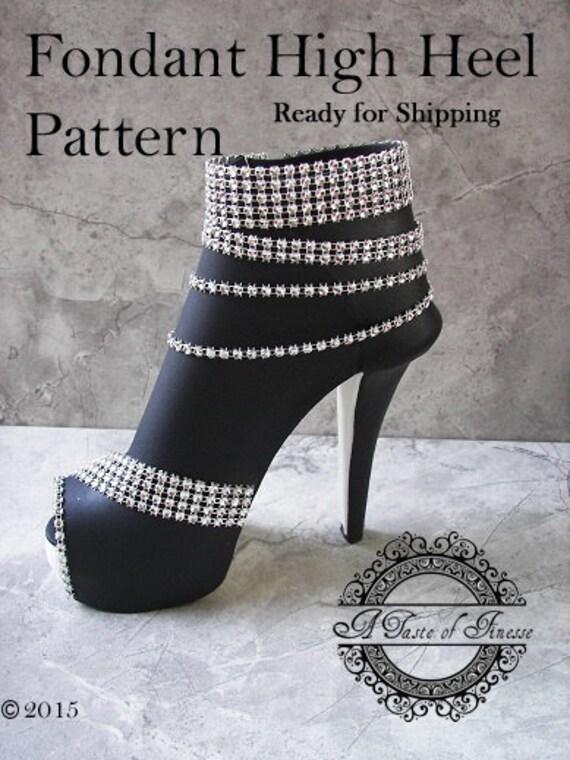 Fondant High Heel Boot Pattern Fondant High Heel Shoe