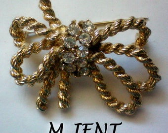 Golden Rope Bow Brooch by M.JENT - 4895