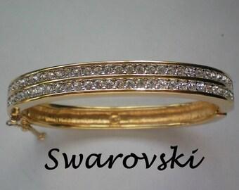 Swarovski Pave Crystal Bangle Bracelet - 4225