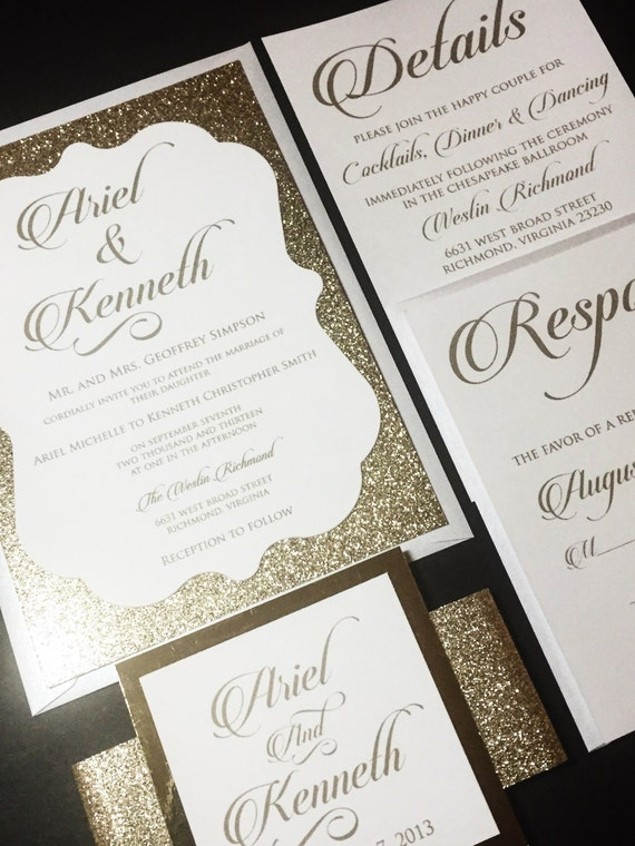 gold glitter wedding invitations gold glitter wedding invitation glitter wedding invitations 4534