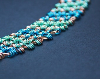 Blue Chainmaille Bracelet