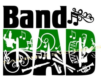 Band DAD file- svg,png,jpg and  silhouette