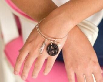 Monogrammed Ava acrylic bracelet