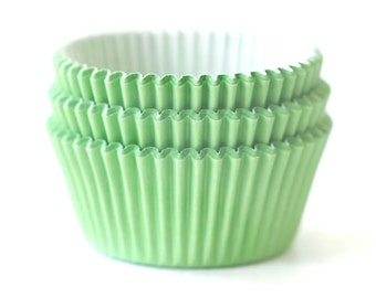 Solid Light Green Cupcake Liners