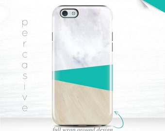 iPhone 7 Marble Cases Mint Color iPhone 6s Case White Marble iPhone 7 Plus Case 3D iPhone 5 Case Triangle iPhone 6 Cases Galaxy S7 case 02y