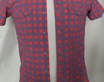 Short Sleeve Gingham Shirt  by H&M