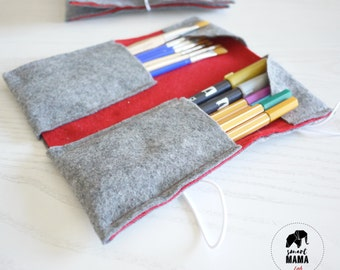 Felt-pen and pencil case for glasses