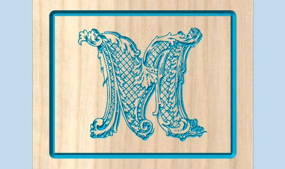 wall decor ornate letter m solid wood letter wood letters letters