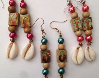 Rosary Earrings Mix