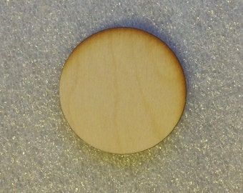 2 inch Wooden Laser Cut Circle Disk