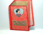 Vintage Large Fold out valentine card  from 1939 Ephemera greetind card. child's card scrapping Craft Supplies