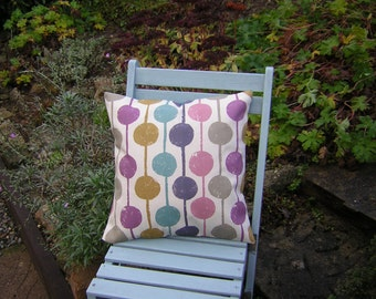Harlequin  Fabric Cushion Cover - 'Taimi' Scandi Circle Design Damson