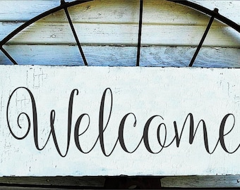 Welcome- Sign - Reusable STENCILS- Baller 9 Sizes Available- Create your own Welcome Signs and Save!