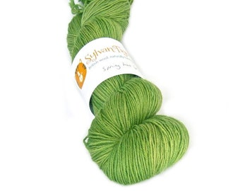 Hand dyed yarn BFL 4ply 'Spring has Sprung'
