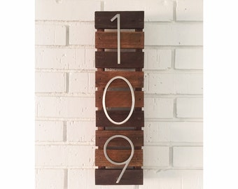 Modern House Numbers (Slat Mount)