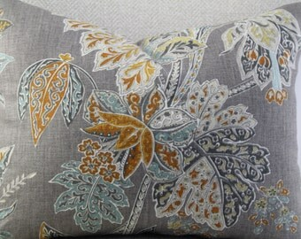 Ishana turmeric by kravet,lumbar pillow decorative pillow,accent pillow,pillow cover,same fabric on front and back.