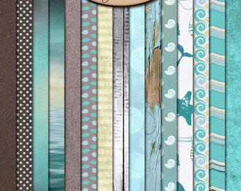 Digital Scrapbook: Paper, Sea Kissed