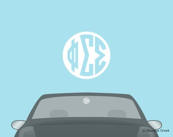 PhiSigma Phi Sigma Sigma Monogram Car Laptop Dorm Window Vinyl Sorority Decal Sticker