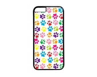 Paws Paw Cute Colorful Pattern case for iPhone 4 4s 5 5s 5c 6 6s  6 Plus iPod Touch Case