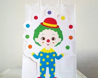 Clown Goody Bags, Circus Goody Bags, Circus Favor Bags, Circus Party Bags, Circus Goodie Bags