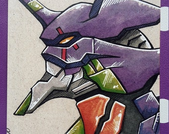 Unit 01 inspired art card print (Size 7x5 inches)