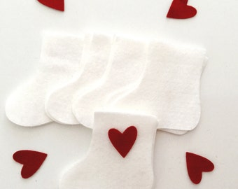 Christmas Stocking felt die cuts