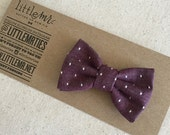 Baby Bow Tie, Toddler Bow Tie, Cranberry Polka Dot Boys Bow Ties