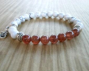 Muscovite Mala Bracelet, Healing & Balancing, Mala Bracelet, Yoga, Buddhist, Meditation, Prayer Beads