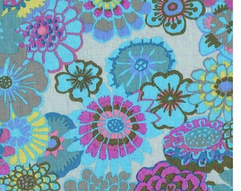 ASIAN CIRCLES  Turquoise  GP89 Kaffe Fassett  Sold in 1/2 yd increments