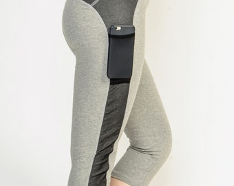 """NYC Performance Capri Pants - Grey Heather - Free shipping with  """"Core by Sha"""" coupon code"""