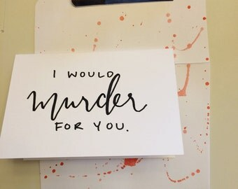 Blood Splatter Greeting Card Valentine
