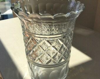 c1850 Antique VICTORIAN Cut Glass CELERY VASE