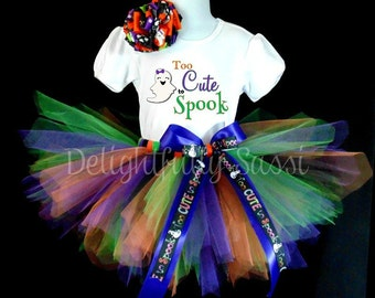 Halloween Tutu, Girl's Halloween Tutu, Halloween Costume Tutu, Girls Halloween, 1st Halloween Tutu, Tutu Set, Girls Tutu, Ghost Tutu