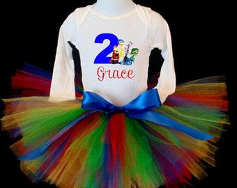 Inside Out Tutu Set, Birthday Tutu Set, Tutu Outfit, Inside Out Tutu Outfit, Birthday Tutu