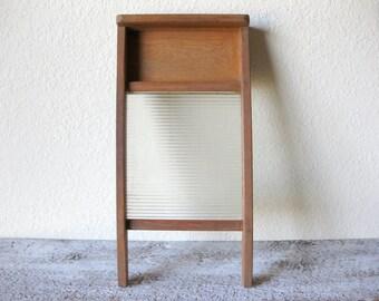 Vintage Glass Washboard  ~ Wash Board ~ No Markings