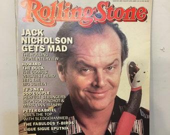 1986 Jack Nicholson Rolling Stone Magazine, Vintage Jack Nicholson The Rolling Stone Interview, Rolling Stone Magazine,Gifts under 20 Dollar