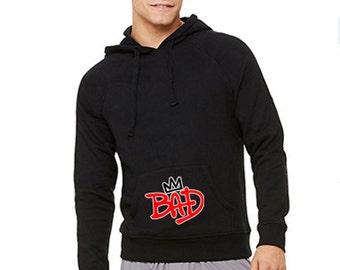 Michael Jackson Bad 25 with Crown Hooded Pullover Sweatshirt 3719