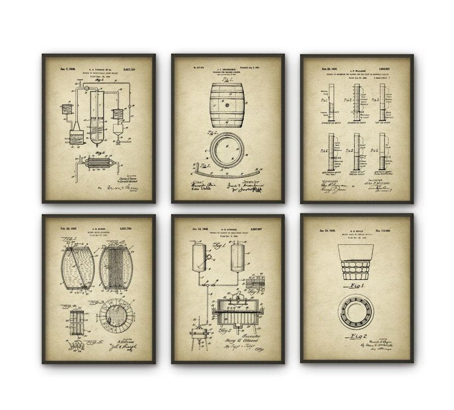 Whiskey Patent Print