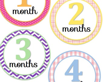 Monthly onesie stickers- Girl
