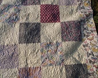 Lovely April in Paris Large Lap Quilt