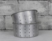 Large vintage French cheese mold strainer. French farmhouse. Vintage cheese mold. Aluminum mold. Vintage Kitchen decor // C667